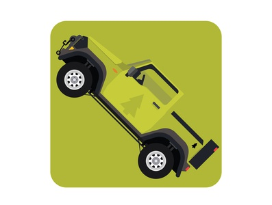 Green off road car mobile app