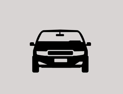 Sedan car vector icon