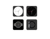 colck and watch vector icon