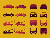 Car, bus, truck icons