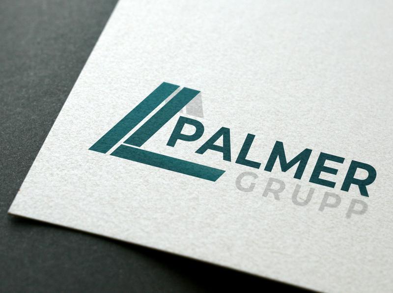 Logo for Palmer print papercut brand identity branding logo design