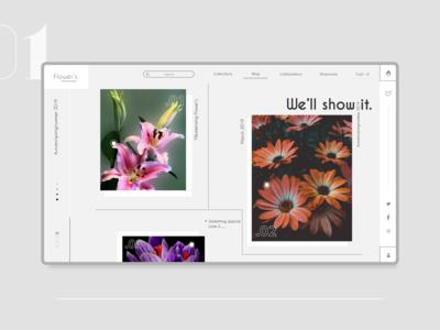 Flower store web landing page