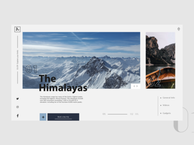 Journey Web Landing page