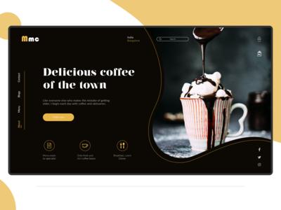 Cafeteria Web landing page design