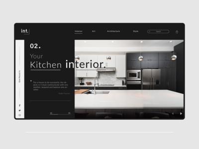 Interior designing studio web landing page