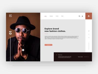Fashion store web landing page design