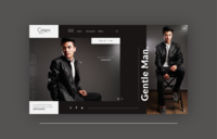 Fashion website landing page design