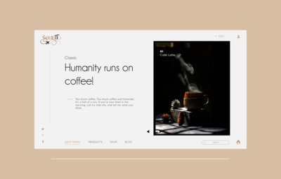 Coffee website landing page design