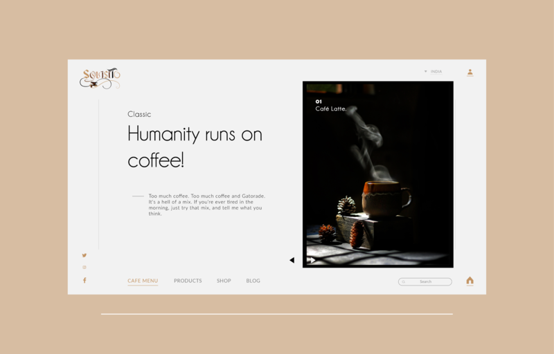 Coffee website landing page design cafeteria coffee bag coffeeshop coffee website branding web landing page ux ui design website web