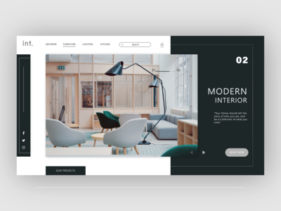 Interior architecture Website Landing page design
