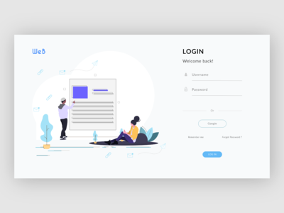 WEB Login page design