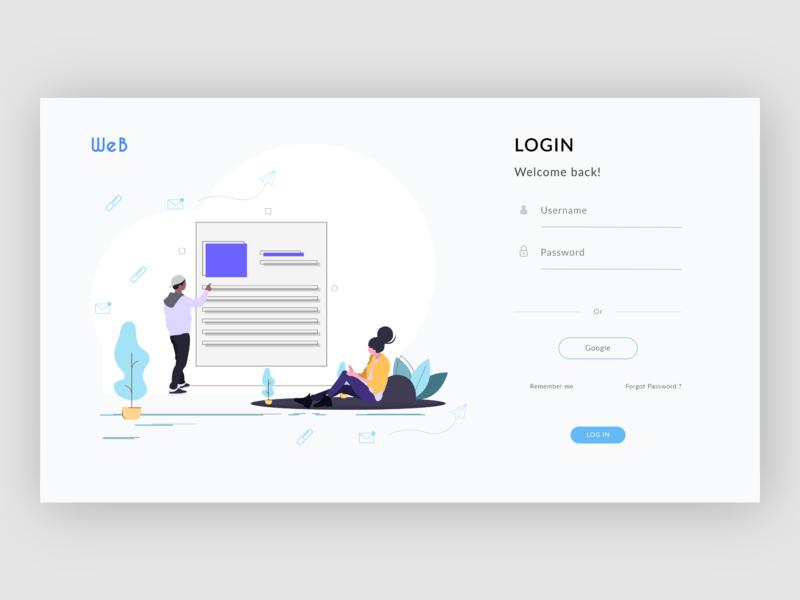 WEB Login page design app login screen login page design design ui website web