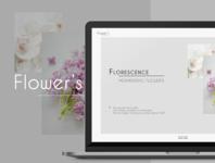 Flower's website design