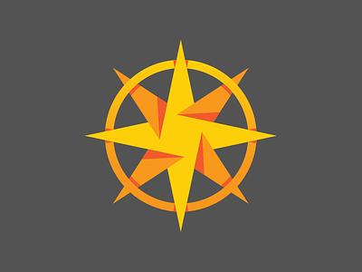 Compass Team Logo guiding light north star compass