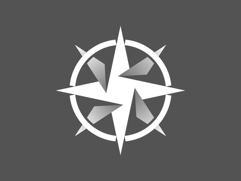 compass team logo 1 color version by john joh dribbble