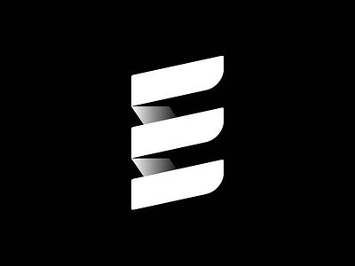 Elements - White Version one color mono type form letter e elements