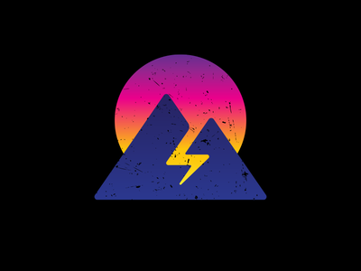 Delta Sierra Team Logo mountains sun lighting 80s ds logo sierra delta