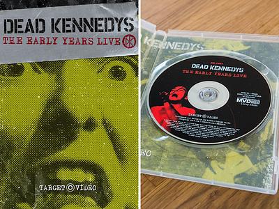 Dead Kennedys - The Early Years Live DVD disc rock punk jello biafra video packaging dvd dead kennedys dk