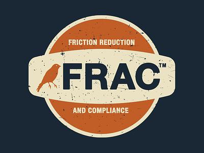 FRAC T-Shirt vintage retro motor oil logo illustration t-shirt