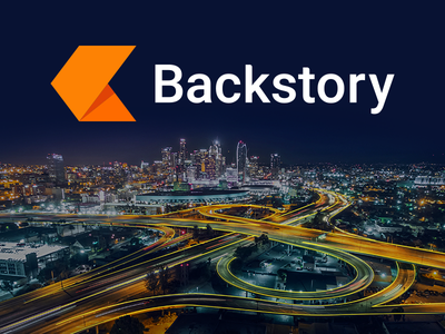 Backstory Logo backstory book orange cyber security story arrow brand logo chronicle