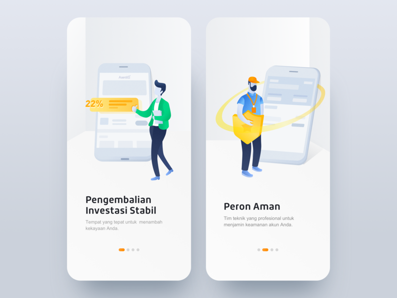 Guide pages 设计 ui
