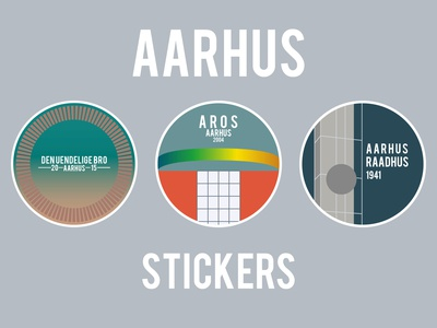 Aarhus sticker collection