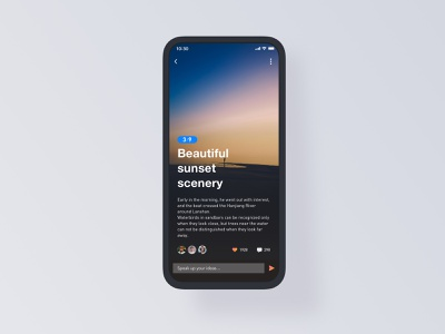 Short Video Social clean color y typography redesign queries drawing digital design written words short video give the thumbs-up social contact dark colors 艺术 图标 应用 设计 ux ui