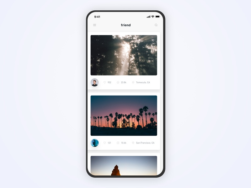 Picture Social APP design typography type responsive redesign quarters space simple sketch photographer social iphonex photo image camera picture sea beach ocean tree interaction modern minimal clean app application screen page 向量 原理 白色 应用 设计 ux ui