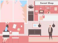 Dessert shop illustration