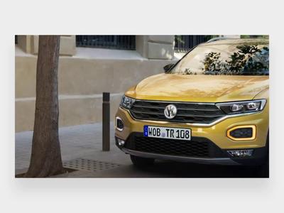Volkswagen login screen