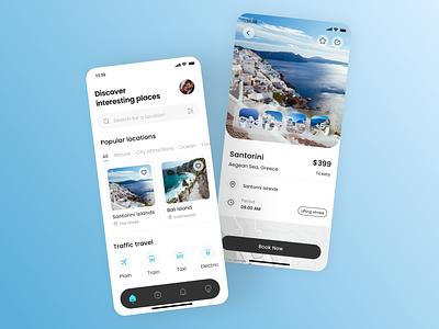 Travel app design home page travel app ui