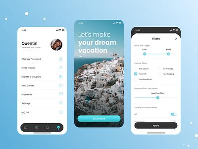 Travel App 02 personal center icon ui travel app