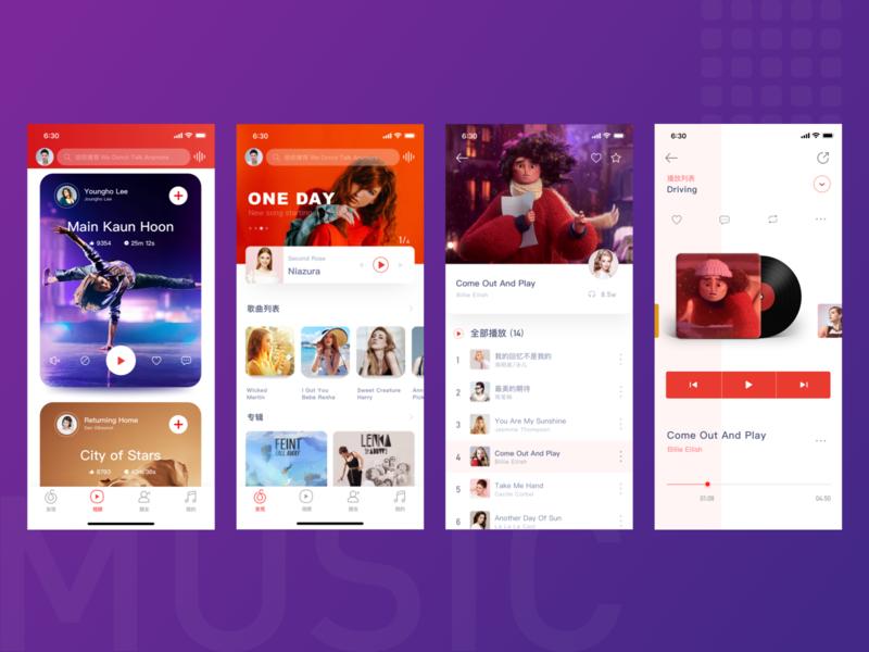 Music app revision ux design music ui