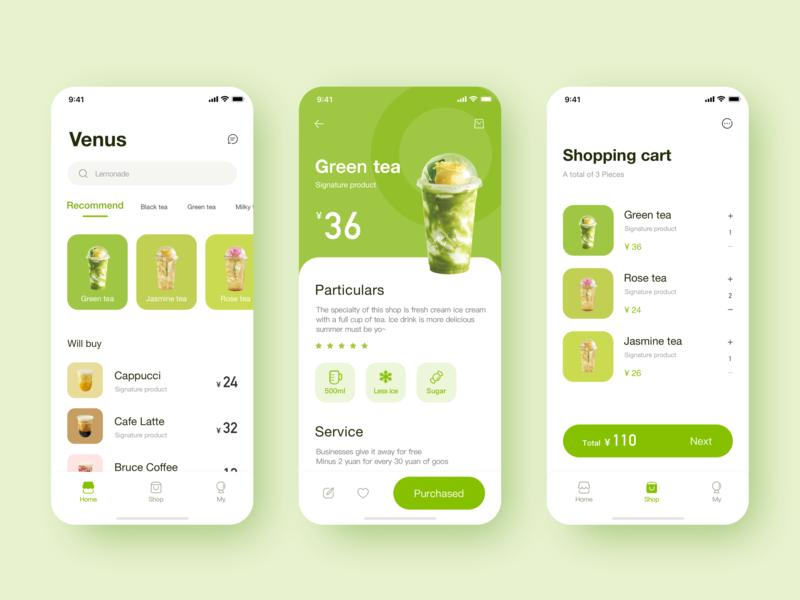Drink interface app icon design ui