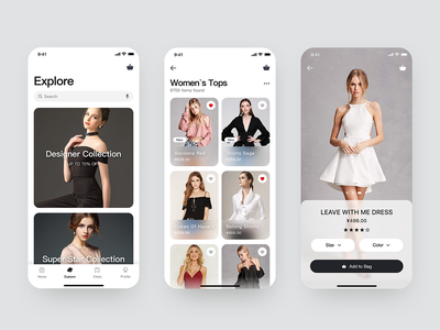 Shopping shopping ui app design