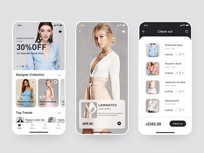 Shopping clothing icon design shopping app ui