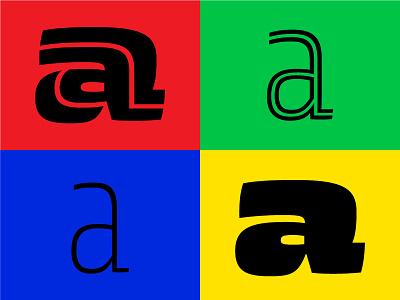 Zico Display outline inline letter vector digital typography type font