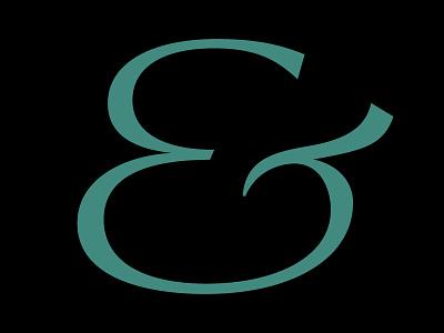 Et vector digital text letter serif typography typedesign design type