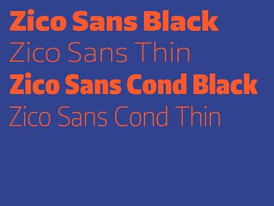 Zico Sans lettering logo identity blue flat branding sans typography design digital font type