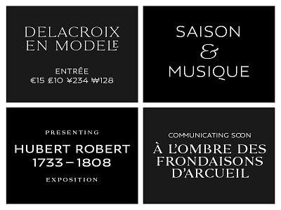 Louvre Serif + Louvre Sans antique traditional classy art museum work custom display sans serif caps typeface