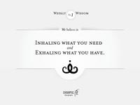 Wisdom on Wednesday