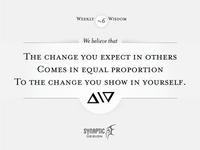 Wisdom on Wednesday #6