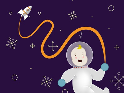 Space Baby spaceship astronaut astronomy baby outer space space