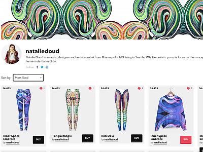 My art on Live Heroes trippy interface flow wearable art art
