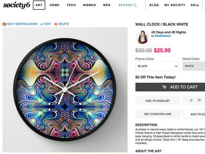 Art Clock Sale flow bright color sale paint clock art
