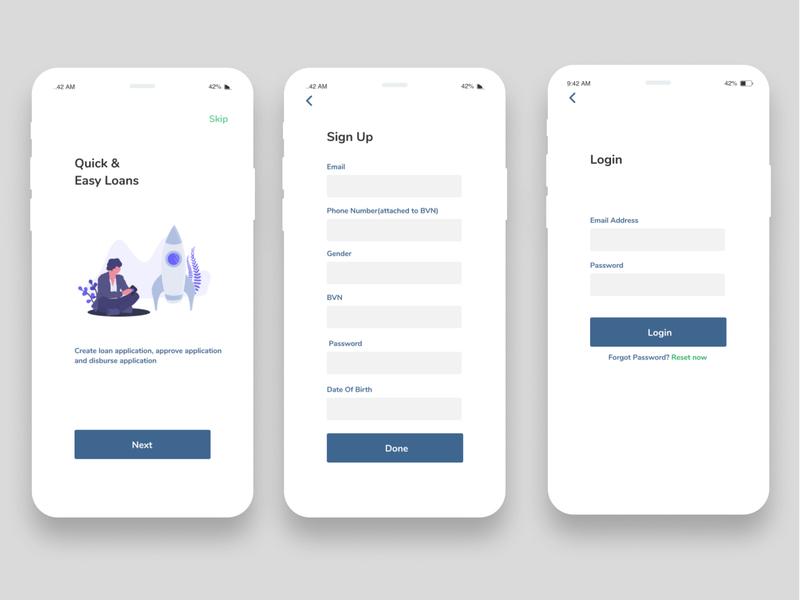 Splash Screen, Signup and Login ui ux branding product design design app