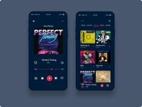 Music Player Application branding design ui ux product design app