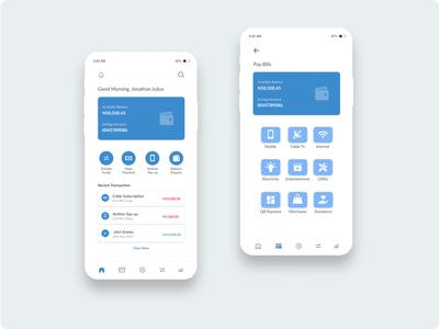 Mobile Banking Dashboard branding ui ux product design design app