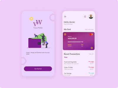 Wallet Application illustrator website web vector ux branding ui product design design app