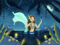 Mélusine in the lagoon